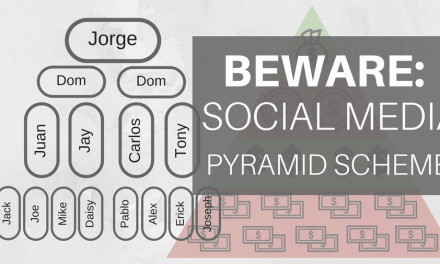 Beware: Social Media Pyramid Scheme