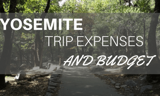 Yosemite Trip Expenses and budget