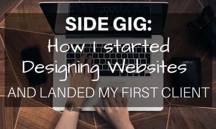 Side gig: How I started designing websites and landed my first client